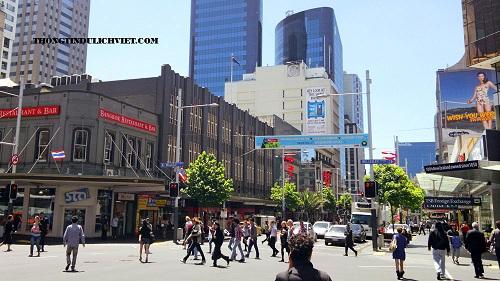 Queen_Street du lịch Úc - Newzealand