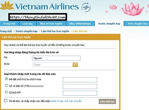1/ Hướng dẫn thủ tục lên máy bay VietNam Airlines